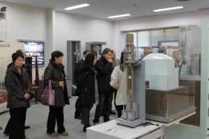 東芝の京浜・横浜事業所。これは説明コーナーです。実際のタービン製造行程は撮影禁止でした。2011年2月
